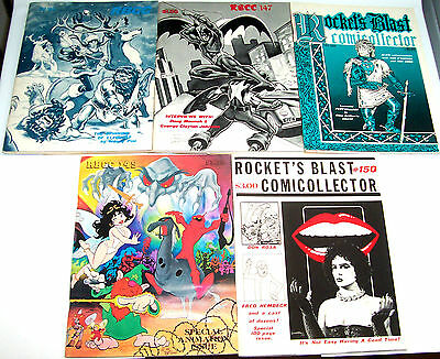 ROCKET'S BLAST COMIC COLLECTOR #146-150 (NM-) 5 Issues In A Row! 1978 Fanzines