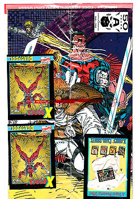 X-FORCE #1 (NM) 2 DEADPOOL Cards in Sealed Polybag! Rare Error! Cool Collectable