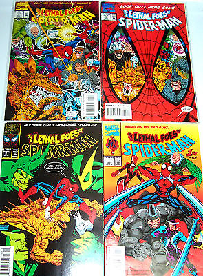LETHAL FOES OF SPIDER-MAN #1-4 (NM-) Full Set! Cool Read! Marvel 1993 KQQL!