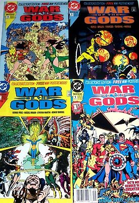 WAR OF THE GODS #1-4 Full Set! Justice League of America! 1991 George Perez NM+