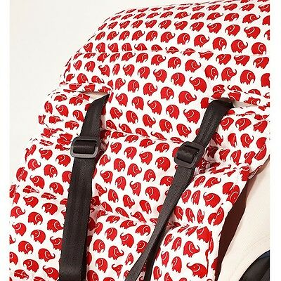 Outlook Travel Comfy Cotton Liner (Red Elephants) Pushchair Stroller Accessory