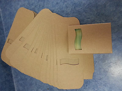 Kraft Soap Box Med Size 25 Open Wave Window Square Cut Out On Front Very Cute!