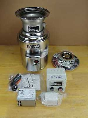 InSinkErator SS100-28 1 HP 1PH Commercial Garbage Disposal w/ Controls and Kit