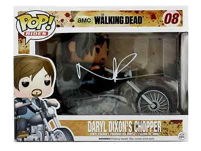 Norman Reedus Autographed/Signed Funko Pop! Rides Daryl Dixon & Chopper #08 Toy