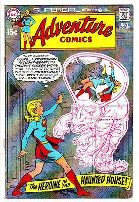 ADVENTURE COMICS #395 FN/VF SUPERGIRL in The Heroine in The Haunted House! 1970