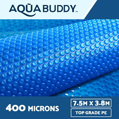 7.5 x 3.8M Solar Swimming Pool Cover 400 Micron Outdoor Bubble Blanket