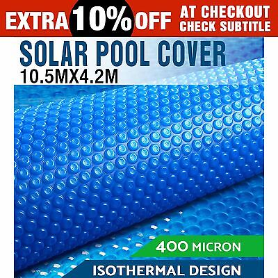 Solar Swimming Pool Cover Blanket Bubble Roller Wheel Adjustable 10.5X4.2M