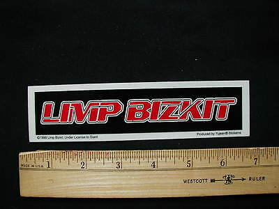 Limp Bizkit Red Logo Sticker New