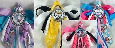 88fa162d1 Hello Kitty Butterfly Bumble Bee Airplane Pirate Hair Bow w/Beads Ponytail  Top