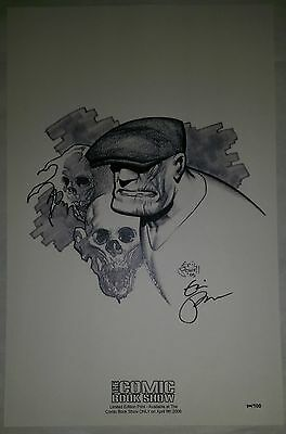GOON FLAMING SKULLS SIGNED by eric powell PRINT #100/100 EXIST The LAST ONE!!