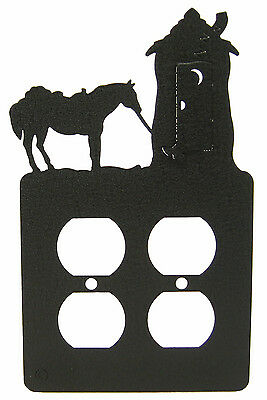 Outhouse & Horse Double Outlet Cover Plate