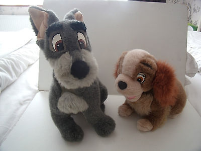 """Lady And The Tramp 16"""" Soft Plush Toy Figures - Disney"""
