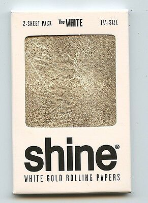 Shine 24K White Gold Rolling papers 2-Sheet pack The White