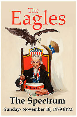 The Eagles at The Spectrum in Philadelphia * The Long Run * Concert Poster 1979