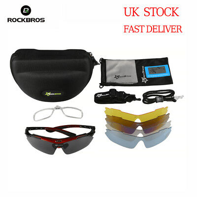 RockBros Cycling Ride Outdoor Polarized Glasses Sunglasses Goggles 5 Lenses