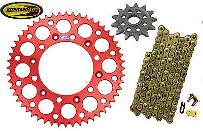 Gold Chain Renthal Red Sprocket 15 55 for Honda Crf 150 r rb 2007-2012 Crf150