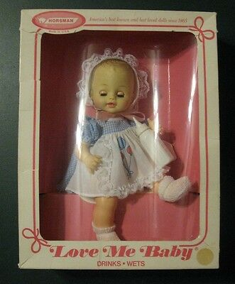 Horsman LOVE ME BABY Doll Drinks Wets Made in USA Irene Szor Design