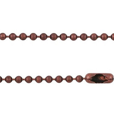 1pc x 60cm long 2.4mm BALL CHAIN Necklace DIY pendant findings - ANTIQUE COPPER