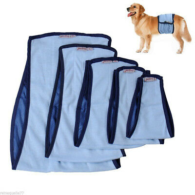 Male Pet Dog Belly Wrap Band Diaper Nappy Pants Puppy Sanitary Underwear XS-XL