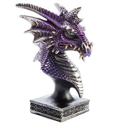 House Warming Gifts Desk Table Display Decorations Purple Dragon Head Figurine