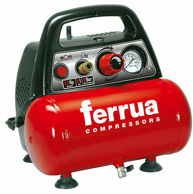 Compressore aria portatile oil less 1,5 Hp  8BAR  6 LT NEW VENTO FERRUA NUAIR