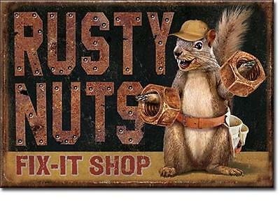 Rusty Nuts Fix-It Shop USA Werkstatt Magnet Magnetshild