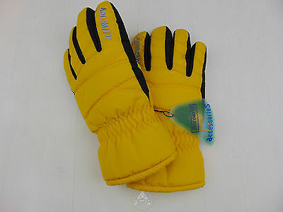 NWT DOLOMITE Guanti XS Bambino Kid Giallo Yellow Junior Neve Sci Ski Snow