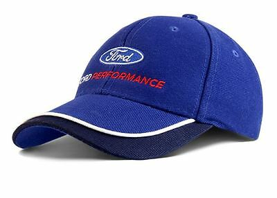 Ford Performance Sandwhich Cap Curved Peak In Blue