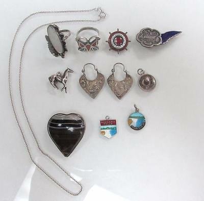 Dealer's Lot of 11 Sterling Silver Miscellaneous Items ~ 45.1 grams~ 13-C8784