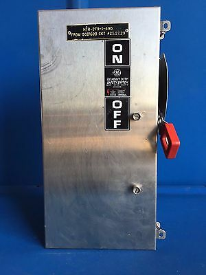 Ge Heavy Duty Saftey Switch 60 Amp 600Volt Stainless Nema 12 Non Fused