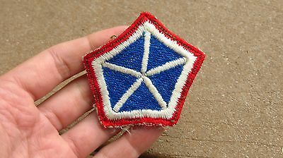 5th Corps Artillery patch red border German made post WWII occupation very rare