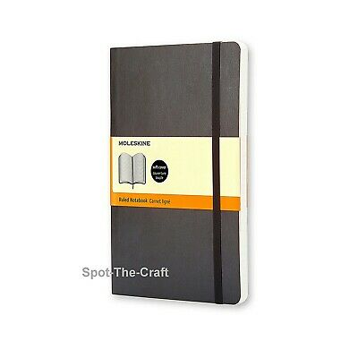 Moleskine Notebook Classic Black Large Ruled Soft Cover