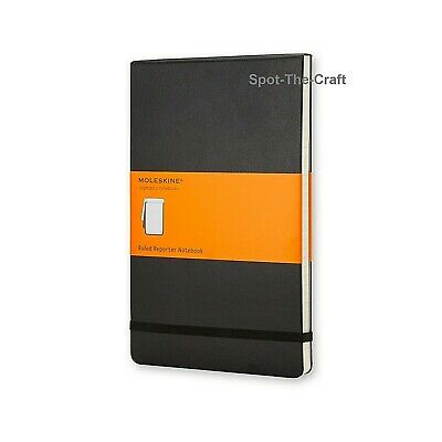 Moleskine Notebook Reporter Pocket Ruled Black Hard Cover