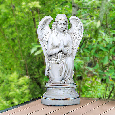 21″ Outdoor Female Angel Statue Statuary Praying Wings Serene Decoration Garden