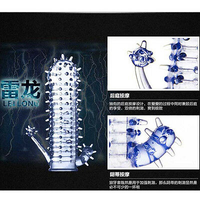 brontosaurus Spike Dotted Ribbed delay thorn Reuse 50 Times thin Condoms  hot