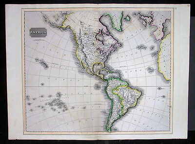 1817 Thomson Large Antique Map of America