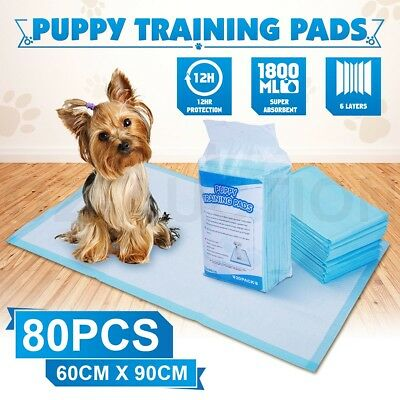 80PCs 60cm x 90cm Puppy Training Pads for Puppies & Indoor Pet Dog Cat Toilet