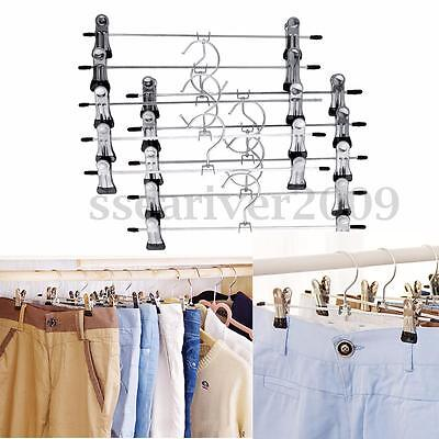 10pcs Stainless Steel Clip Clothes Stand Pants Skirt Kid Clothes  Laundry Hanger