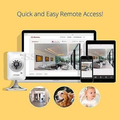 Zmodo 720P HD WiFi Mini IP Camera Baby Monitor Support 64G SD Cards Storage+More
