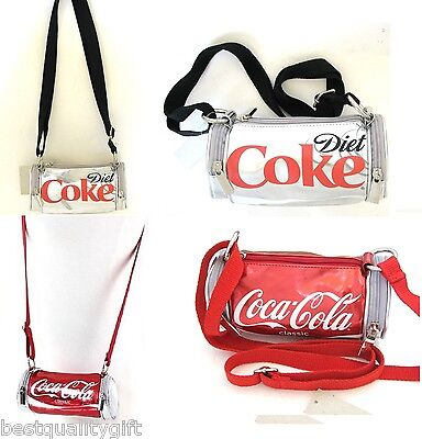 New Red Classic Coca-Cola+Grey,Gray Diet Coke Can Cross Body+Purse+Hand Bag