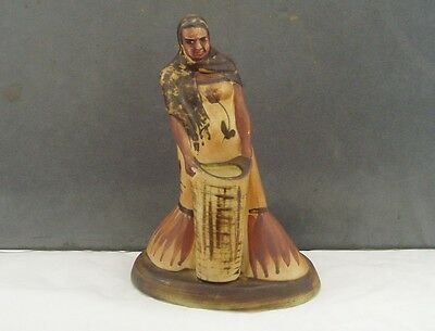 JERSEY STUDIO POTTERY UNUSUAL FIGURE OF A WOMAN/VASE 1960s 70s RETRO