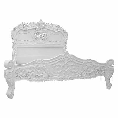 Rococo Bed - White Painted - King Size 5ft - New