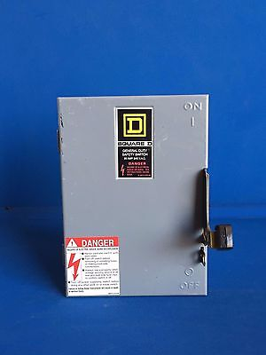 Square D 30A 240V  Indoor General Duty Safety Switch