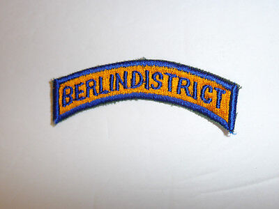 b2959 Post WW 2 US Army Constabulary tab Berlin District Occupied Germany R8D