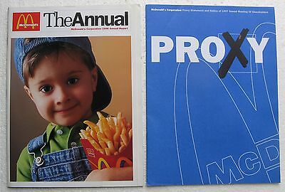 McDonald's Corporation 1996 Annual Report & Proxy Statement