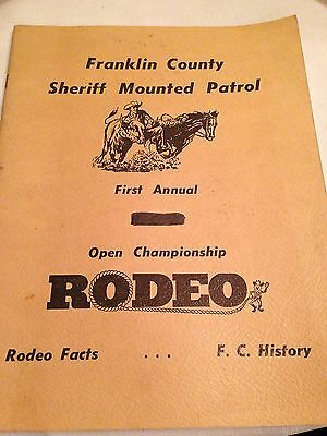 Franklin County Sheriff Mounted Patrol 1st Annual Rodeo 1966 Program Indiana