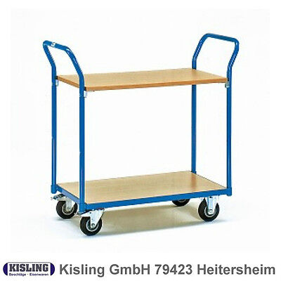 Fetra Table Trolley 1600 with 2 Wood Floors wheel Ø 125 mm