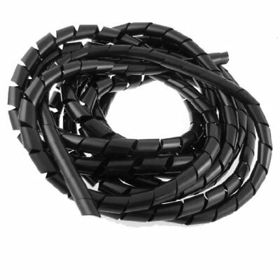 14mm Outside Dia 17 Ft Polyethylene Spiral Wire Wrap Desktop PC Manage Cable New