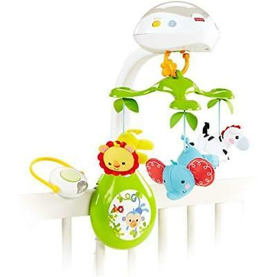 Fisher-Price Deluxe Projection Mobile, Rainforest Friends 3-in-1 New