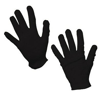 Black Childs Costume Gloves One Pair Theatrical Military Parade Dress Up